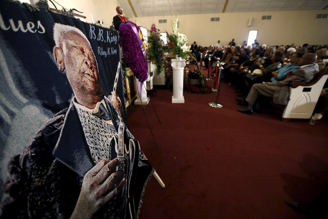bb king funeral blanket