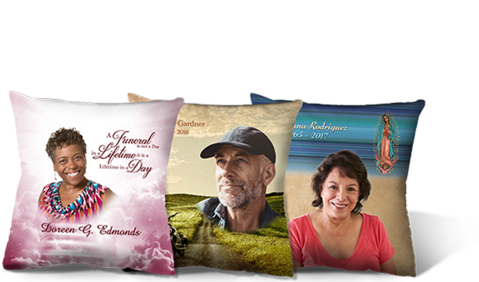 funeral keepsake pillows